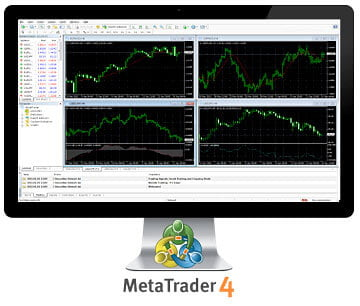 XMのMT4プラットフォームの取引画面
