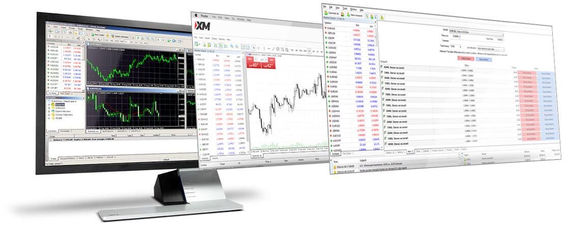 XMの取引プラットフォームの画面